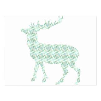 Cartão Postal Cervos pastel bonitos