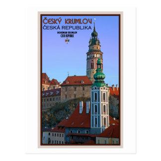 Cartão Postal Cesky Krumlov - duas torres