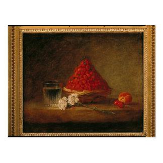 Cartão Postal Cesta com morangos silvestres, c.1761