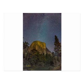 Cartão Postal Céu nocturno do EL Capitan do vale de Yosemite