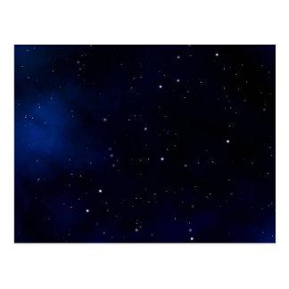 Cartão Postal Céu nocturno estrelado escuro
