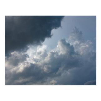 Cartão Postal Céu tormentoso, nebuloso