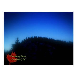 Cartão Postal Céus do limite, Greenwood, BC