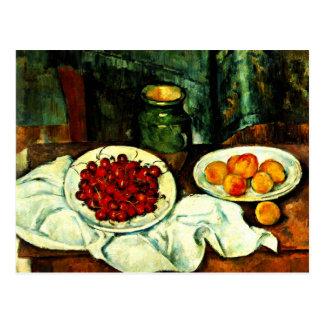 Cartão Postal Cezanne - cerejas