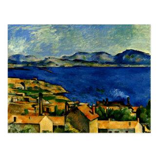Cartão Postal Cezanne - golfo de Marselha visto de L'Estaque