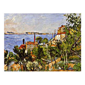 Cartão Postal Cezanne - paisagem, estudo após a natureza, 1876