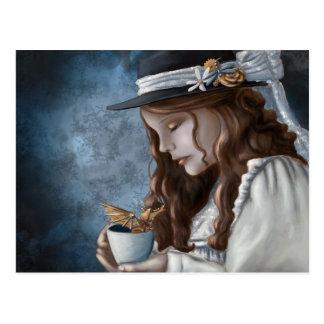 Cartão Postal Chá cozinhado dragão