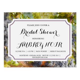 Cartão Postal Chá de panela para o casamento do vinhedo ou da