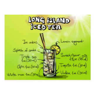 Cartão Postal Chá gelado de Long Island - presente do cocktail