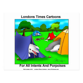 Cartão Postal Chalaça-Amantes engraçados de acampamento das