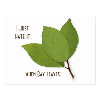 Cartão Postal Chalaça da erva, eu di-a-ar quando as folhas de