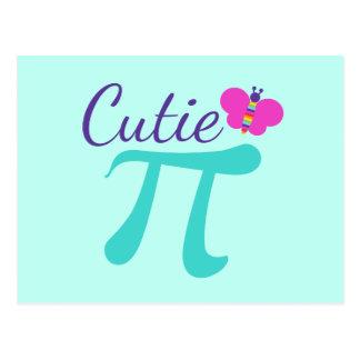 Cartão Postal Chalaça da matemática do símbolo de Cutie Pi