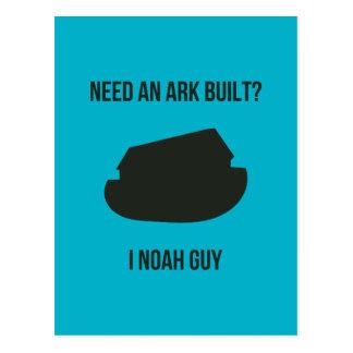Cartão Postal Chalaça do cristão da arca de Noah