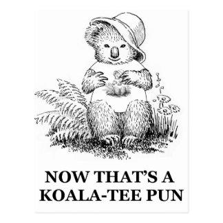Cartão Postal chalaça do Koala-T