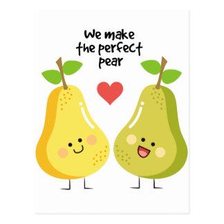 Cartão Postal Chalaça engraçada da fruta nós fazemos a pera