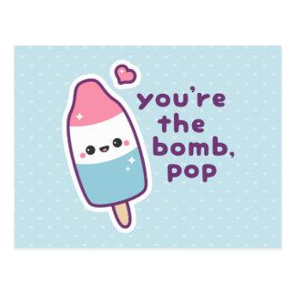 Cartão Postal Chalaça engraçada do Popsicle do dia dos pais