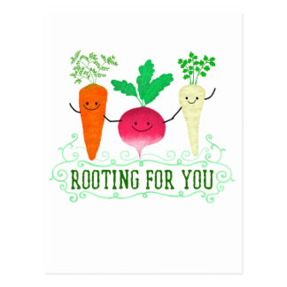 Cartão Postal Chalaça positiva da raiz - enraizando para você