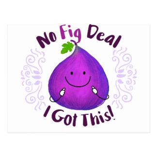 Cartão Postal Chalaça positiva do figo - nenhum negócio do figo