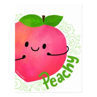 Cartão Postal Chalaça positiva do pêssego - Peachy