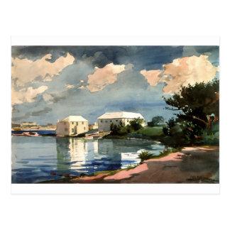 Cartão Postal Chaleira de sal, Bermuda por Winslow Homer