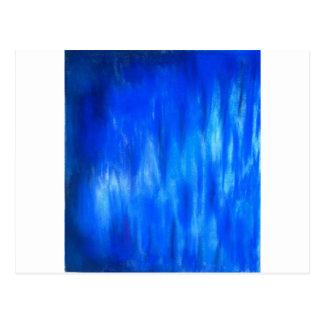 Cartão Postal Chama azul Pastel (expressionism abstrato)