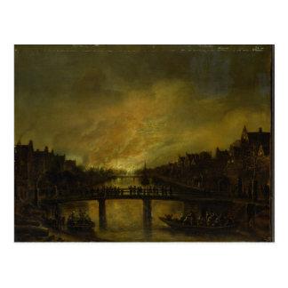 Cartão Postal Chama em Amsterdão