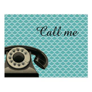 Cartão Postal Chamada telefónica do vintage mim