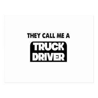 Cartão Postal chamam-me um camionista