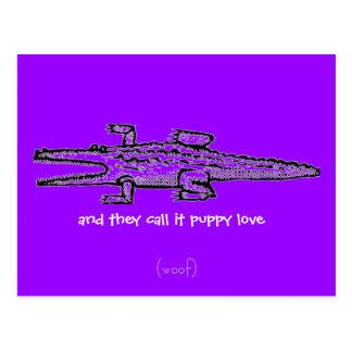 Cartão Postal chamam-no amor de filhote de cachorro