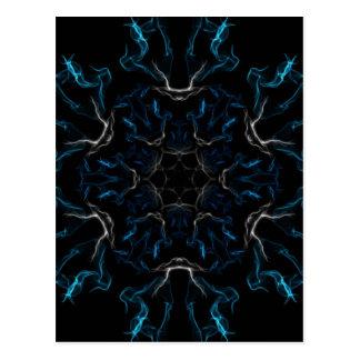 Cartão Postal Chamas azuis do fosco