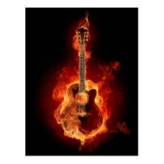 Cartão Postal Chamas da guitarra