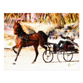 Cartão Postal Chamas do Equestrian |