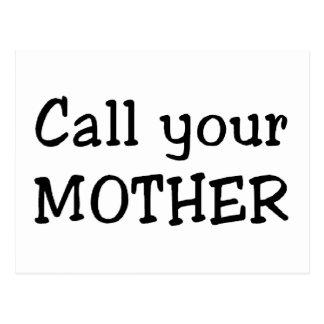 Cartão Postal Chame sua mãe