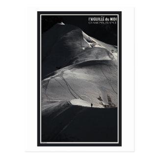 Cartão Postal Chamonix - Arete de Aiguille du Midi de solo