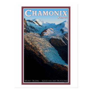 Cartão Postal Chamonix - DES Bossons da geleira