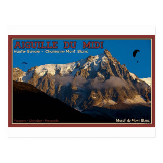 Cartão Postal Chamonix - Paragliders