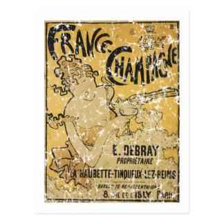 Cartão Postal Champagne-1899 francês - afligido
