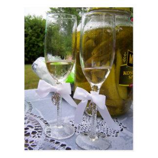 Cartão Postal Champagne e salmouras