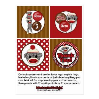 Cartão Postal Chapéu de coco parvo SMR do cupcake do aniversário