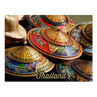 Cartão Postal chapéus de Tailândia