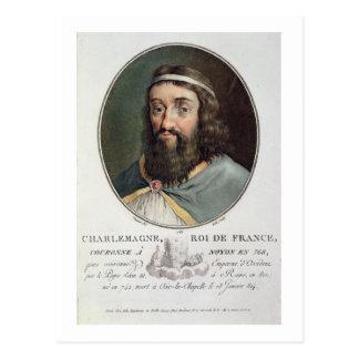 Cartão Postal Charlemagne (747-814), rei de France, gravou perto