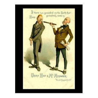 """Cartão Postal Charles Dickens, """"David Copperfield """""""