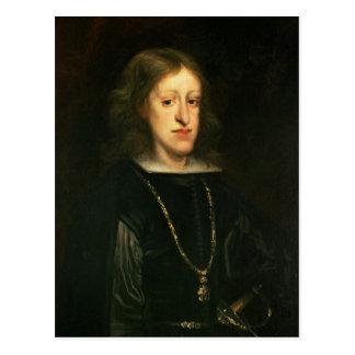 Cartão Postal Charles II da espanha
