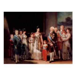 Cartão Postal Charles IV da espanha e da sua família - Goya