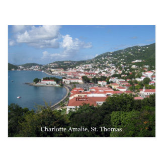 Cartão Postal Charlotte Amalie, St Thomas