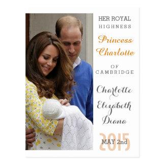 Cartão Postal Charlotte Elizabeth Diana - Ingleses querem Kate