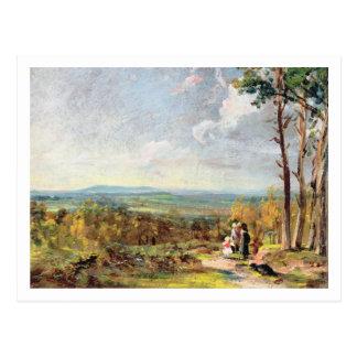 Cartão Postal Charneca de Hampstead que olha para a grade, 1821