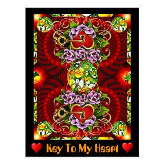 Cartão Postal Chave a meu coração