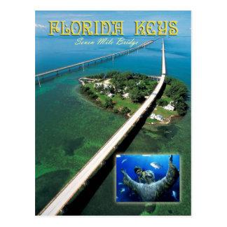 Cartão Postal Chave da ponte & do pombo de sete milhas, chaves