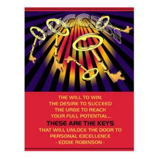 Cartão Postal chaves do sucesso